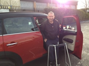 Andy in Hucclecote with his new wheels